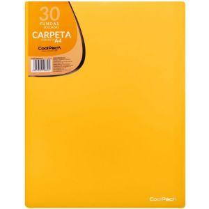 CARPETA 30 FUNDAS SOLDADAS A4 COLOR AMARILLO COOLPACK