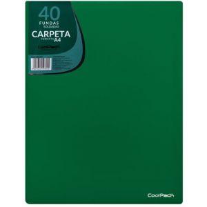 CARPETA 40 FUNDAS SOLDADAS A4 COLOR VERDE COOLPACK