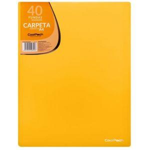 CARPETA 40 FUNDAS SOLDADAS A4 COLOR AMARILLO COOLPACK