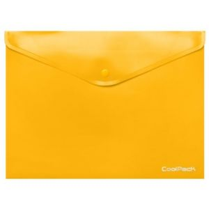 Paq/10 carpeta sobre a4 cierre broche pp amarillo coolpack