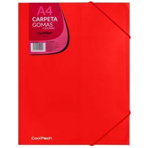 CARPETA GOMAS Y SOLAPAS A4 PP COLOR ROJO COOLPACK
