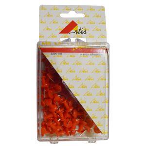 Aguja Señalizadora Push-Pin Artes Caja De 100  Rojas