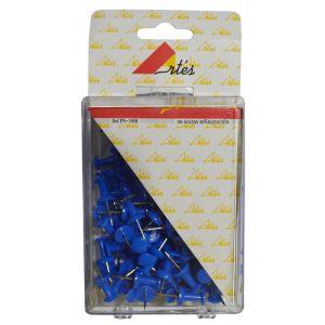 Aguja Señalizadora Push-Pin Artes Caja De 100  Azules