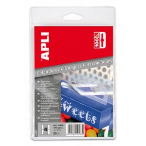 Colgadores Adhesivos 34x48 Plastico C/100 -Esp-