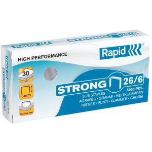 Grapas Rapid Strong 26/6 Mm. Galvanizadas Caja De 5000