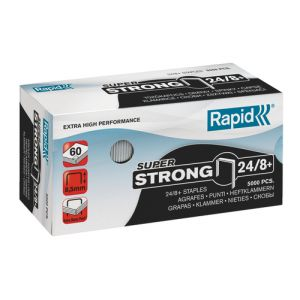 Grapas Rapid Super Strong 24/8+ Mm. Galvanizadas Caja De 5000