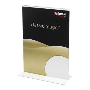 Expositor Sobremesa Deflect-O En Forma De T A4 Vertical Cristal