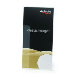 Expositor Sobremesa Deflect-O En Forma De L 1/3 De A4 Vertical Cristal