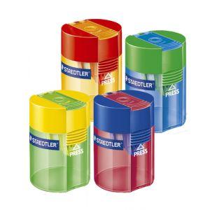 Afilalapiz Staedtler C/Deposito Transparente (Surt. 4 Colores) Expositor 10