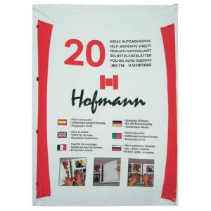 Hoja Para Album De Fotos Hofmann 9825 Magnetica Negra Bolsa De 20