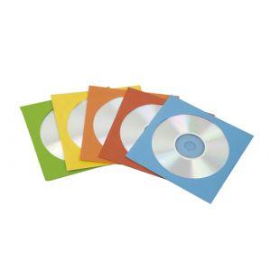 Sobres Fellowes Para Cd/Dvd 125x125 Con Ventana Caja De  50 Color