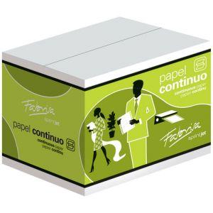 """Papel Continuo Blanco  6""""X240 3 Hojas 2 Cejas Caja De 2000"""