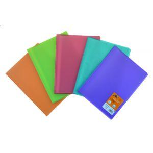 Carpeta Fundas (Tarifario) Olef/ Pp Trans. A4 20 F. 5 Col. (Azul-Naranja-Rojo-Verde-Violeta)