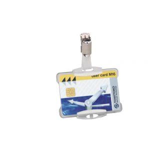 Funda Distintivo Durable 8118 Con Pinza Para Pase De Seguridad 54x85mm Transparente