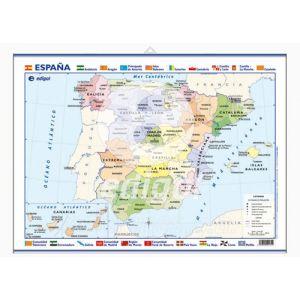 Mapa Edigol Mini-Mural 50x35 Cm Politico España
