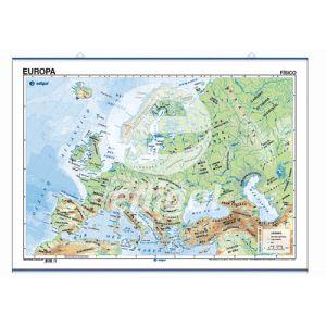 Mapa Edigol Poster 70x50 Cm Fisico/Politico Europa