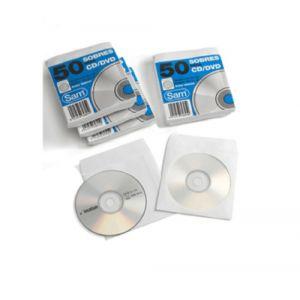 Sobres Sam Para Cd/Dvd 125x125 Con Ventana (Engom.Autoadh.) Paquete De 50