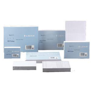 Fichas Loan Lisas  75x125mm (Nº2) Paquete De 100