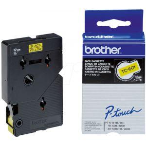 Cinta De Rotular Brother Laminada 7 7m 12mm Negro Sobre Amarillo