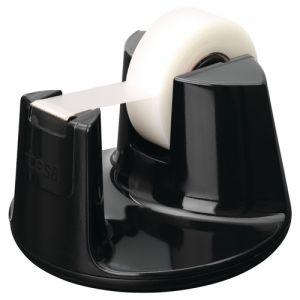 Portarrollos Tesa Easy Cut Compact Negro+1 Rollo 33x19 Invisible