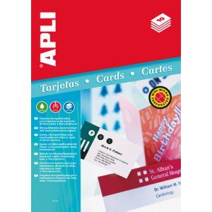 Tarjetas De Visita Apli Para Impresora Microperforada Convencion 200g 90x55mm Blister 10h 80 Uds.(02794)