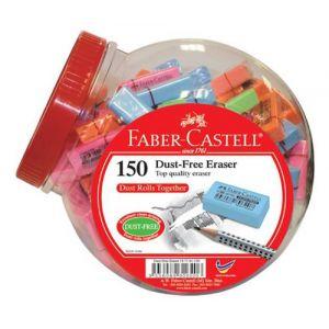 Goma De Borrar Faber-Castell Dust-Free Bombonera De 150 Surtidas (4 Colores Pastel)
