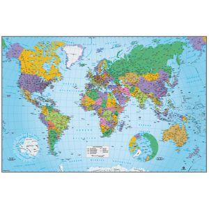 Mapa Erik Mural 61x91 5 Cm Fisico/Politico Mundo
