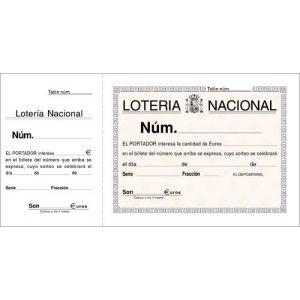Talonario Catalan Loteria Dos Tintas Loan