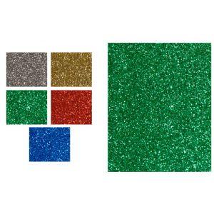 Goma Eva Fixo Kids Hoja 40x60 Cm Purpurina Verde Paquete De 5