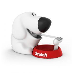 Portarrollos Scotch Dog C31 Con 1 Rollo Scotch Magic 19x8 9