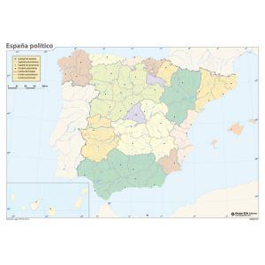 Mapa Mudo Erik Color Politico España