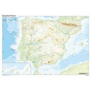 Mapa Mudo Erik Color Fisico España