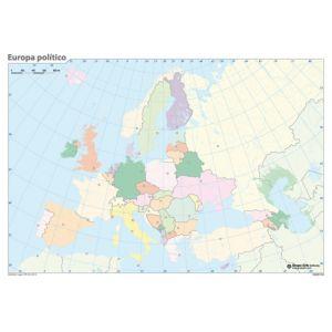 Mapa Mudo Erik Color Politico Europa