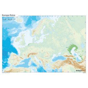 Mapa Mudo Erik Color Fisico Europa