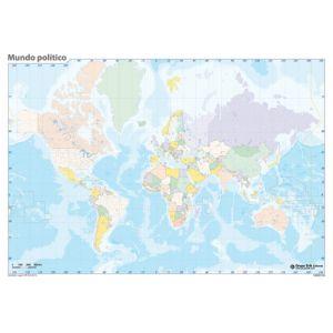 Mapa Mudo Erik Color Politico Mundo