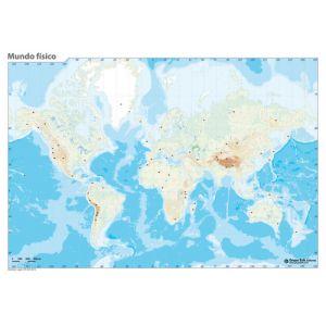 Mapa Mudo Erik Color Fisico Mundo