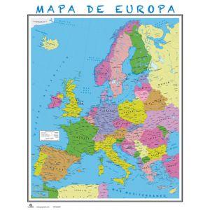 Mapa Erik Mural 40x50 Cm  Europa