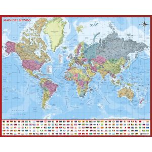 Mapa Erik Mural 40x50 Cm  Mundo