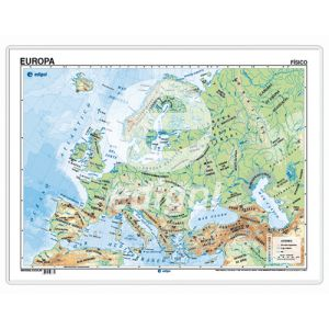 Mapa Edigol Escritorio 50x35 Cm Fisico/Politico Europa