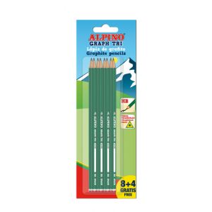 Lapiz De Grafito Alpino Triangular Blister De 8+4