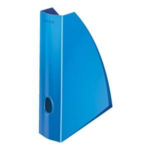 Revistero Plastico Leitz Wow A4 60mm  Azul Metalizado