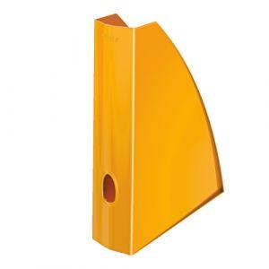 Revistero Plastico Leitz Wow A4 60mm  Naranja Metalizado