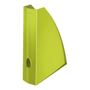 Revistero Plastico Leitz Wow A4 60mm  Verde Metalizado