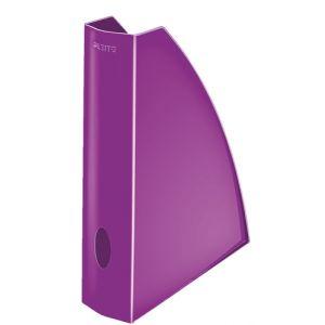 Revistero Plastico Leitz Wow A4 60mm  Violeta Metalizado
