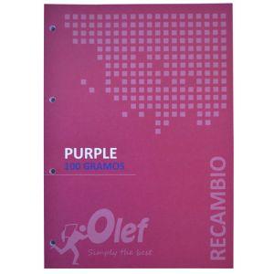 Recambio Olef A4 80h 100gr 4 Taladros Cuadric.5x5 Violeta