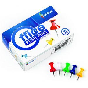 Aguja Señalizadora Push-Pins Forpus Caja De 100 Surtidas
