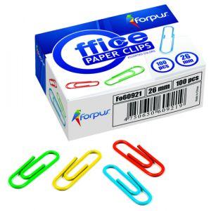 Clip Color Forpus Nº1 5 (26 Mm.) Plastif.Caja De 100