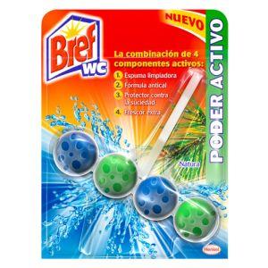 Desinfectante Y Ambientador De Inodoro Bref Wc Poder Activo Natural 51 G