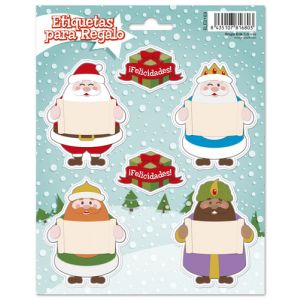 Etiquetas Navidad Erik Reyes Y Santa Stickers