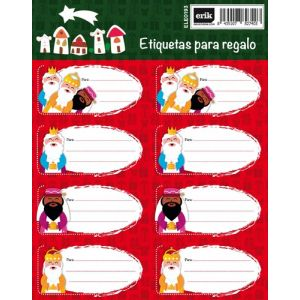 Etiquetas Navidad Erik Reyes Magos